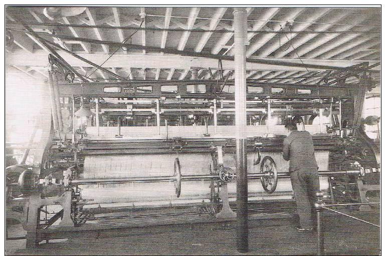 NOTTINGHAM LACE - Leavers Lace Machine ~ 1914 ~ Repro. Card - Craft
