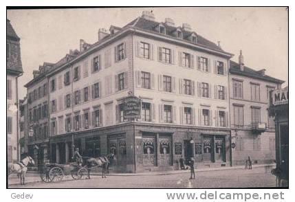 Basel Café-Restaurant Central, K. Seiler-Wirz, Attelage (2716) - BS Bâle-Ville