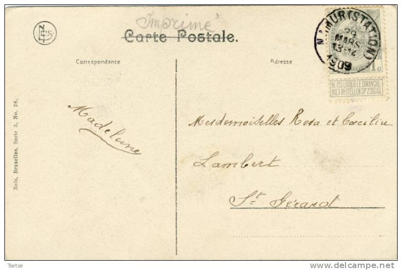 Fontaine L'Evêque - Eglise St. Christophe, Vue De Derrière - 1909 ( Voir Verso ) - Fontaine-l'Evêque