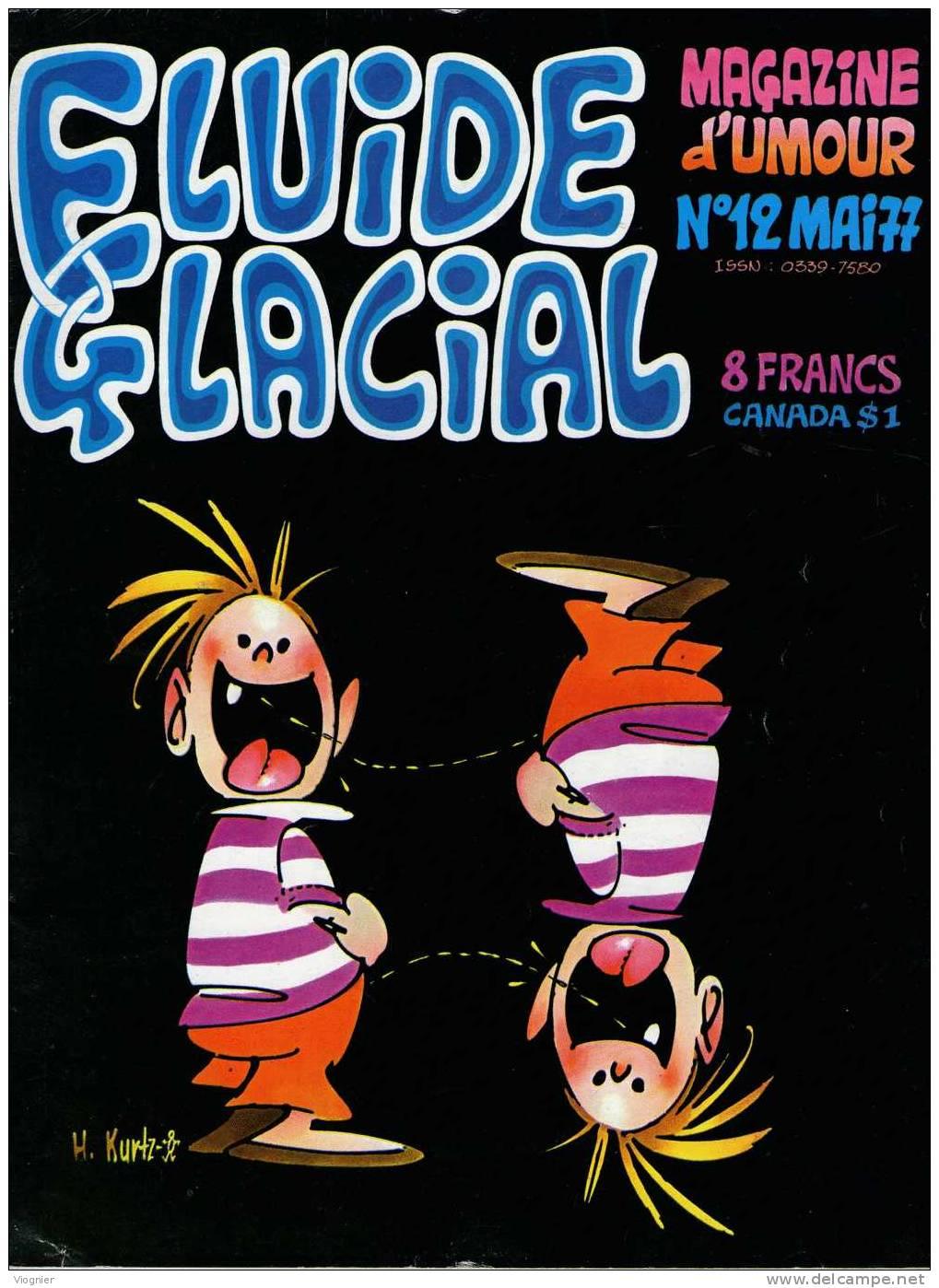FLUIDE GLACIAL  N° 12   Mai 1977 - Fluide Glacial