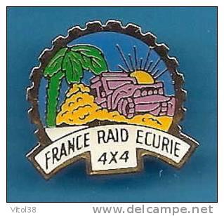 PIN'S FRANCE RAID ECURIE 4 X 4 / D C I - Automobile - F1