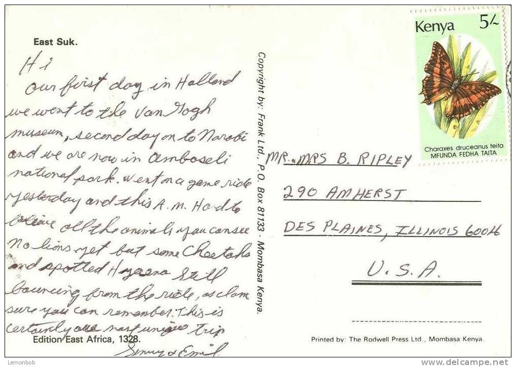 Africa - Kenya - East Suk - Used Postcard [P2305] - Kenya