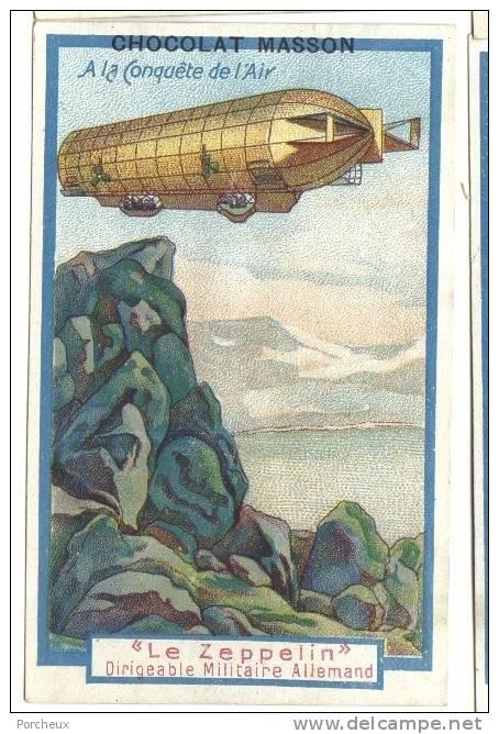 CHROMO Chocolat MASSON Conquète De L´air Zeppelin - Non Classificati