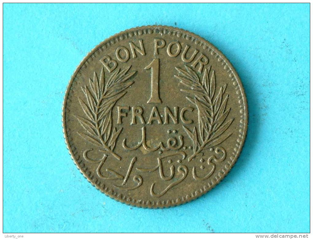 1941 - 1 FRANC BON POUR / KM 247 ( For Grade, Please See Photo ) !! - Tunisia