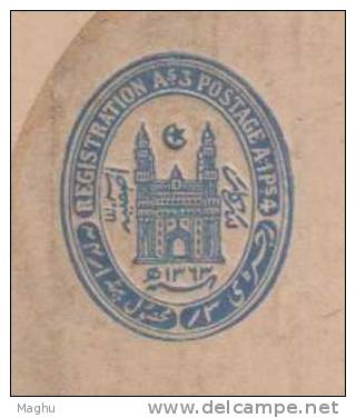 India / Hyderabad Registered Letter Postal Stationery Mint / Unused As Scan - Hyderabad