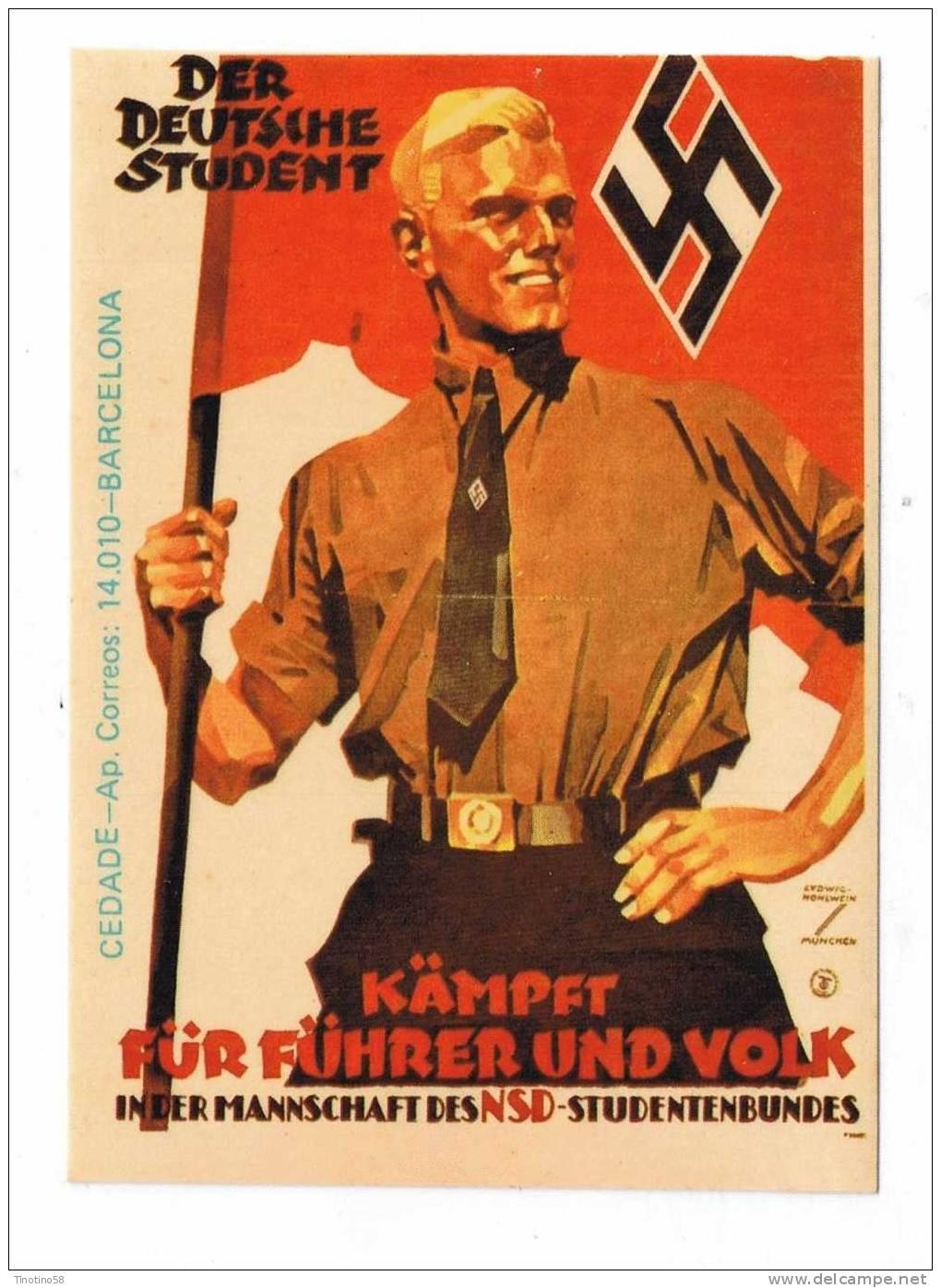 NAZISMO--  ADESIVO  RARO  BARCELLONA - Personaggi