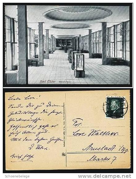 A458) Sachsen Bad Elster Ansichtskarte 1930 Wandelhalle - Bad Elster