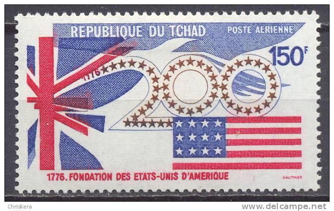 Tchad Poste Aérienne YT N°162 Fondation Des Etats-Unis Neuf/charnière * - Ciad (1960-...)