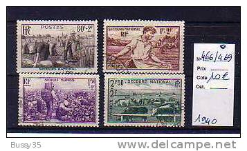 FRANCE TIMBRES OBLITERES Au Profit Du Secours National 1940 - Oblitérés