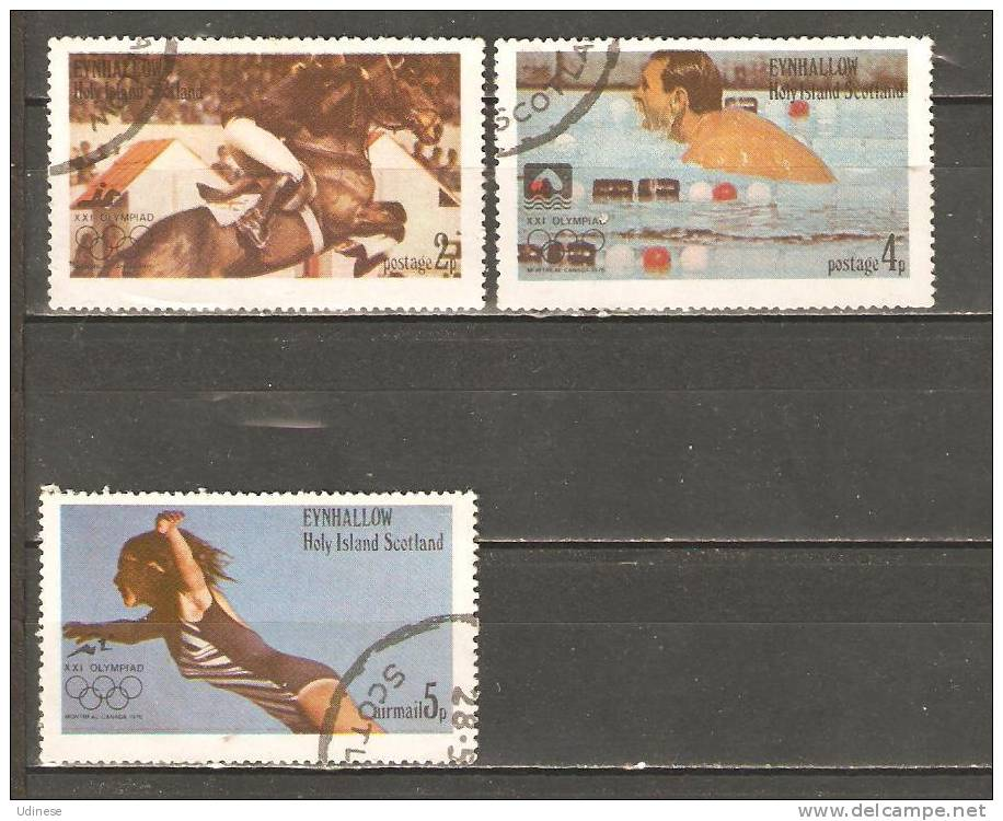 EYNHALLOW - SCOTLAND 1976 - MONTREAL OLYMPIC GAMES  - USED OBLITERE GESTEMPELT USADO - Ete 1976: Montréal
