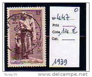 FRANCE TIMBRE OBLITERE Aux Marins Perdus En Mer 1939 - Oblitérés