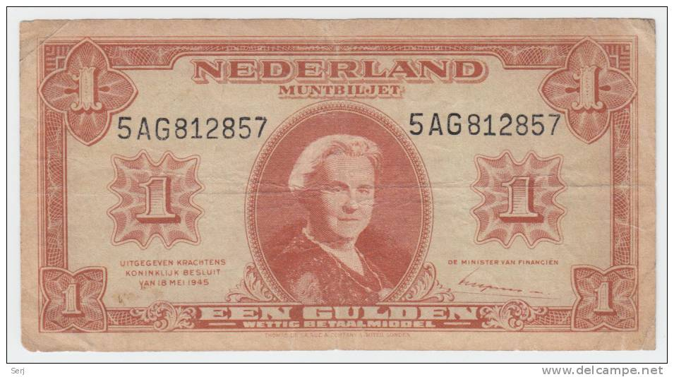 Netherlands 1 Gulden 1945 P 70 - [2] 1815-… : Kingdom Of The Netherlands