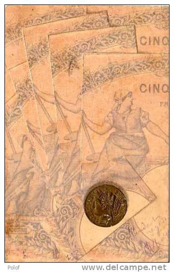 Billets De Banque Et Piece De Monnaie (19929) - Monnaies (représentations)