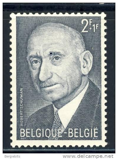 "1967 Belgium   Complete MNH Set Of 1 Stamp "" Schuman "" Europa Sympathy Issue - Belgium"