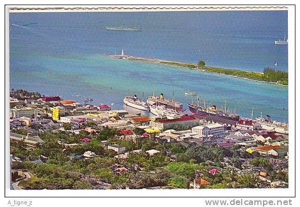 Ref 27 :  Cpsm Bahamas 1969 Nassau Aerial View Of Downtown - Bahamas