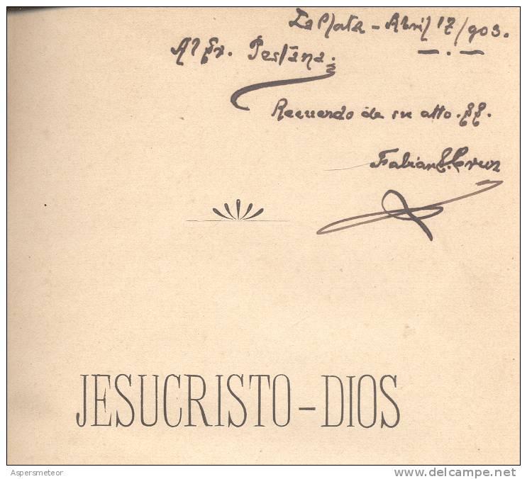HOMENAJE DE LA PLATA A JESUCRISTO REDENTOR AL TERMINAR EL SIGLO XIX Y PRINCIPIAR EL XX  121 PAGINAS - Religion & Sciences Occultes