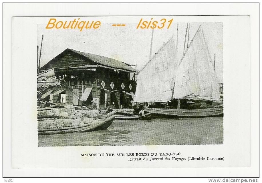 Chine  - Bateaux - RF21810 -  Maison De Thé Sur Les Bord Du Yang-Tsé  - état - Chine