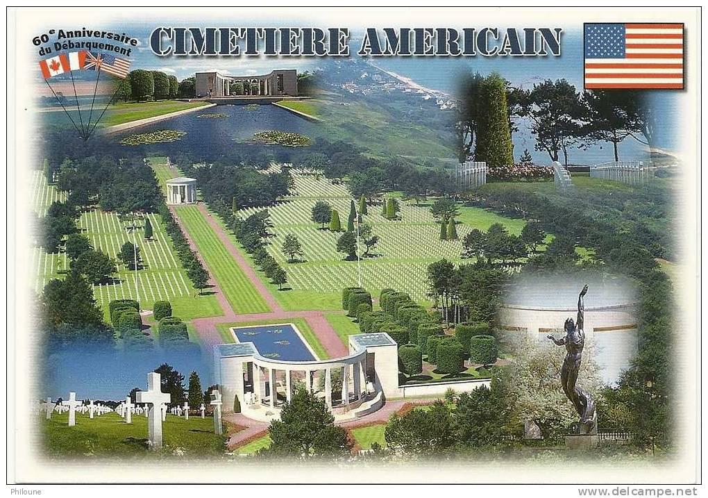 60e Anniversaire Du Débarquement - 6 Juin 1944 - 6 Juin 2004 - Cimetière Américain, Ref 1102-705 - Guerra 1939-45