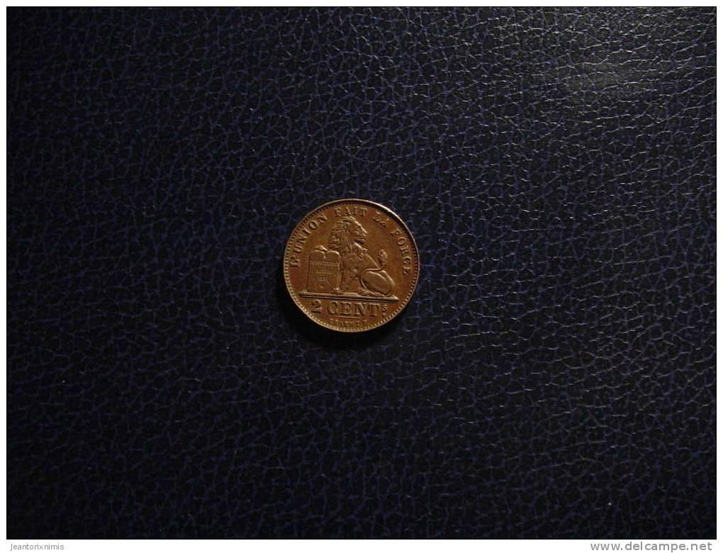 BELGIQUE  :  2  CENTIMES  - 1912 - 02. 2 Centimes