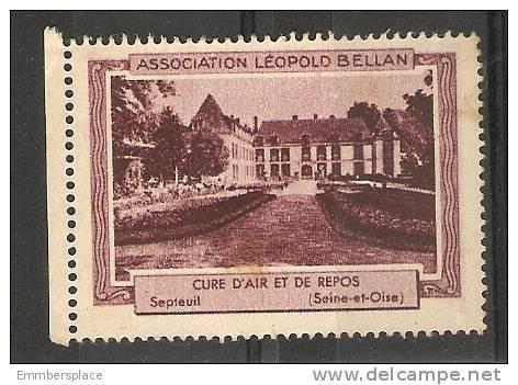 VIGNETTE - PUBLICITE ASSN LEOPOLD BELLAN (CURE D'AIR ET DE REPOS, SEPTEUIL) - Commemorative Labels