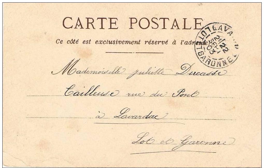 Carte Postale SAINT VALENTIN - Femme Et Fée Dans Un Bois - Traces De Dorure - Dia De Los Amorados
