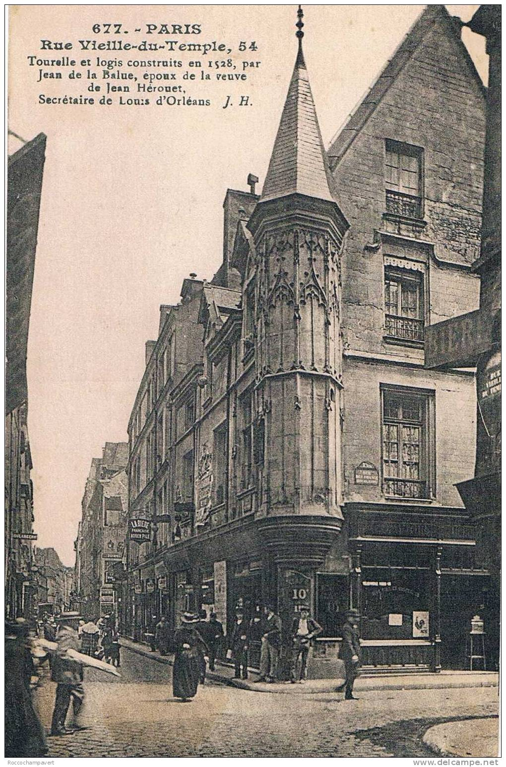 Carte Postale - Paris - Rue Vieille Du Temple - District 04