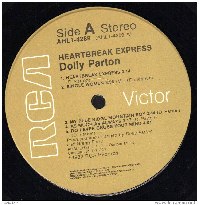 * LP *  DOLLY PARTON - HEARTBREAK EXPRESS (Canada 1982 Ex-!!!) - Country En Folk