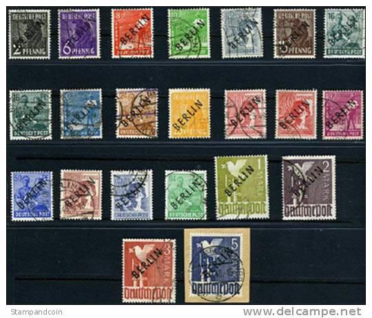 Germany Berlin 9N1-20 Used Overprint Set From 1948 - [5] Berlin