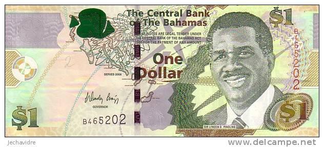 BAHAMAS   1 Dollar  Emission De 2008   Pick 71     ***** BILLET  NEUF ***** - Bahamas
