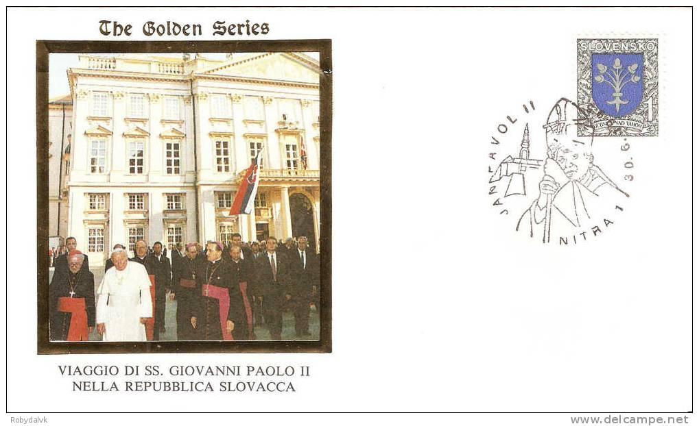 GP2747 - Busta In Occasione Della Visita Di Papa Giovanni Paolo II In Slovacchia - Visita A Nitra - Papi