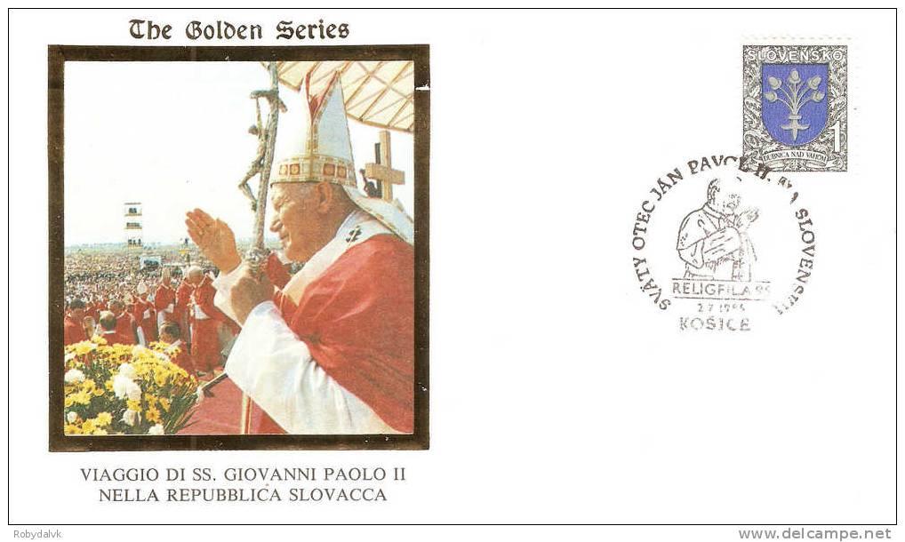 GP2749 - Busta In Occasione Della Visita Di Papa Giovanni Paolo II In Slovacchia - Visita A Kosice - Papi
