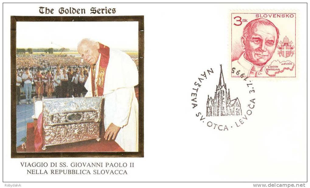 GP2752 - Busta In Occasione Della Visita Di Papa Giovanni Paolo II In Slovacchia - Visita A Levoca - Papi