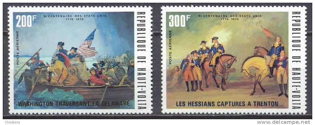 Haute-Volta Poste Aérienne YT N°188/189 Bicentenaire Des Etats-Unis Neuf/charnière * - Alto Volta (1958-1984)
