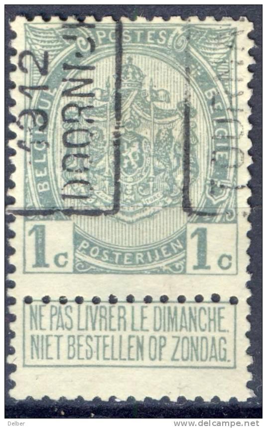 _Cm947: N° 1871 - A - TOURNAI 1912 DOORNIJK - Roller Precancels 1910-19