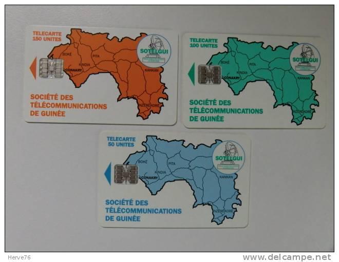 LOT 3 Télécartes  (MAP) - Guinée - Guinée