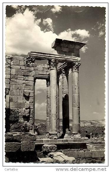 CPSM Tunisie Sbeitla Ruines Romaines - Tunisie