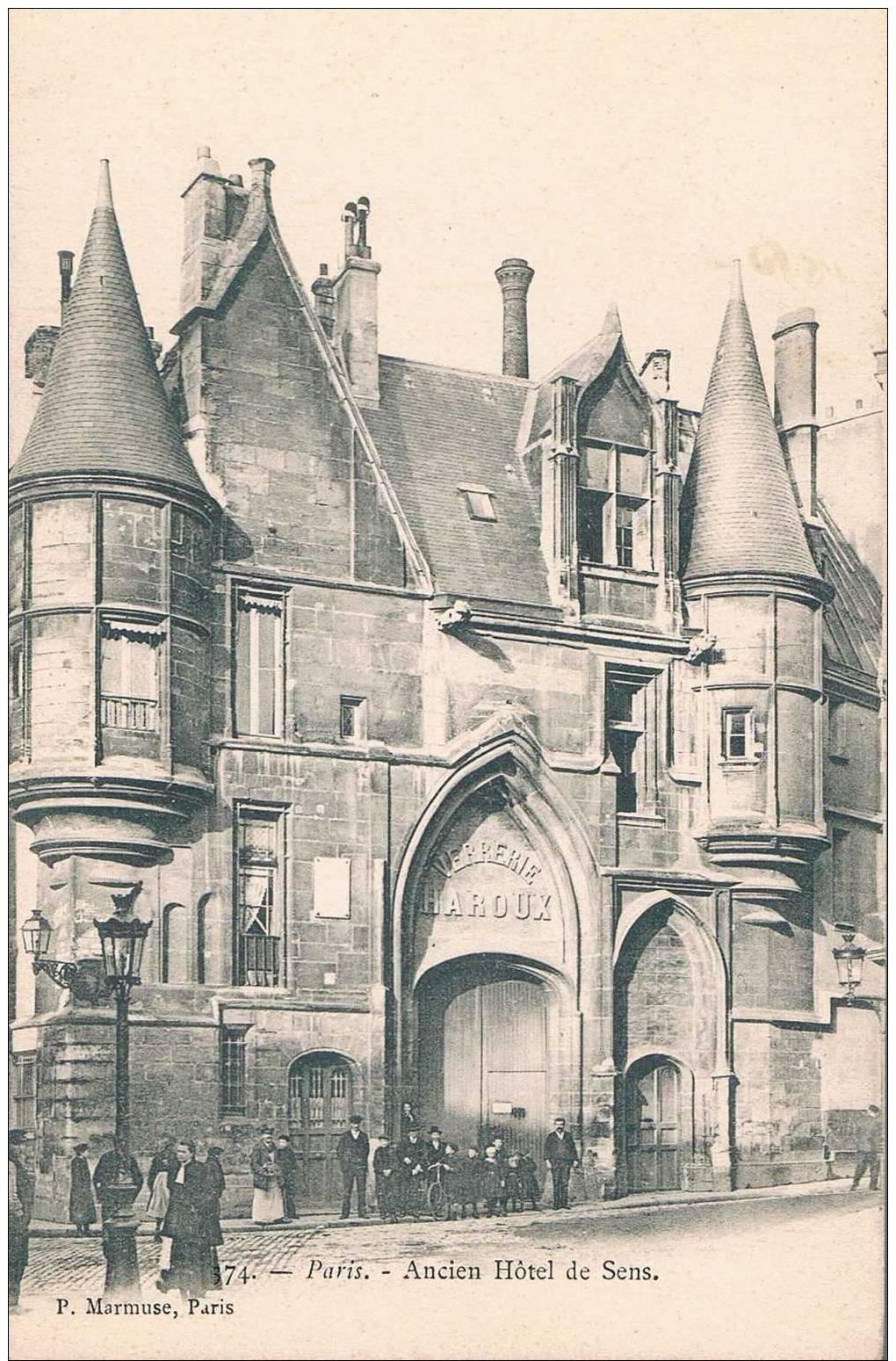 CARTE POSTALE ANCIENNE - Paris - Ancien Hotel De Sens - Otros Monumentos