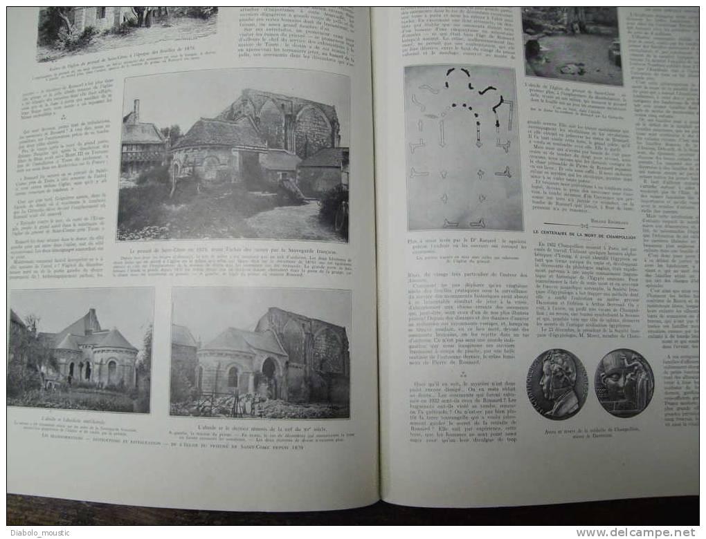 7-1-1933 : MULHOUSE ;  MONTPELLIER ;Gravure; Saint-Come-lez-Tours ;LOCOMOTIVE ;Chalutier Marcella ; Incendie BARCELONE - Zeitungen