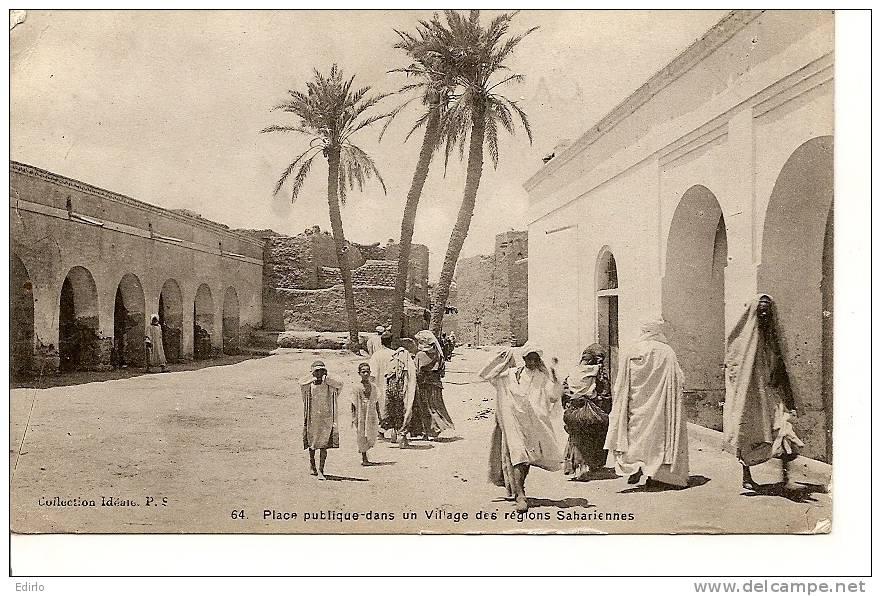 Place Publique Dans Un Village Des Régions Sahariennes TTB  écrite 1915 - Casablanca