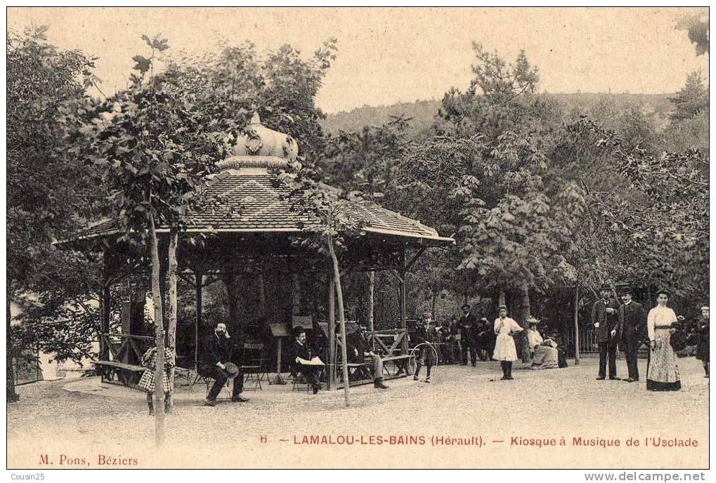 34 LAMALOU LES BAINS - Kiosque à Musique De L'Usclade - Lamalou Les Bains