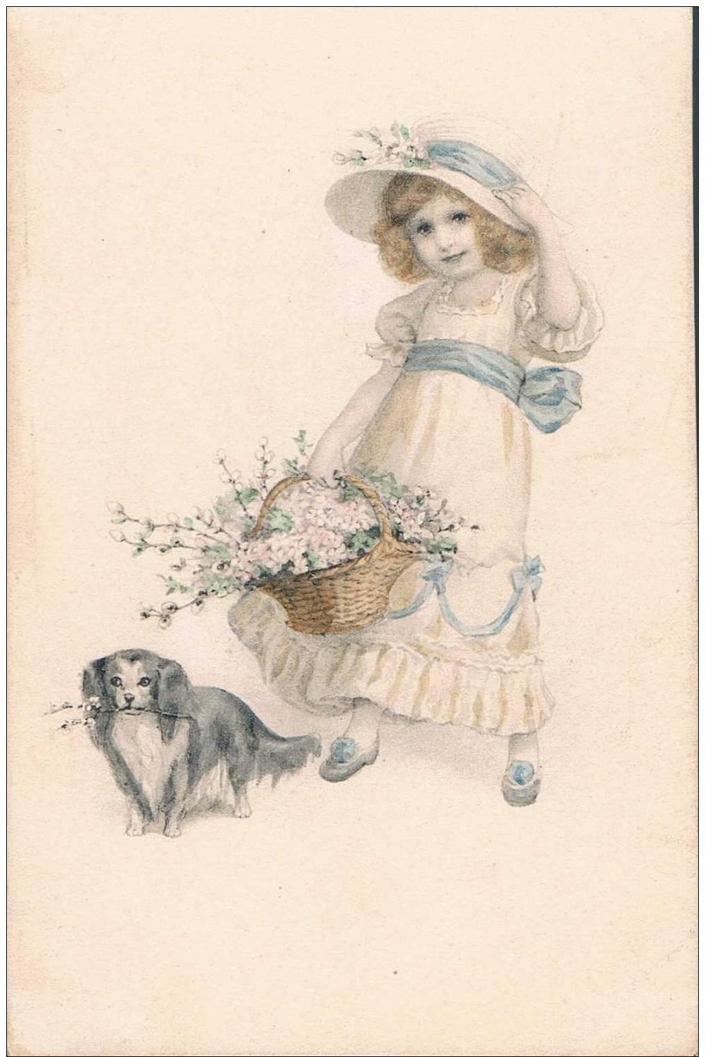 Carte Postale Ancienne - Petite Fille Et Son Chien - Sin Clasificación