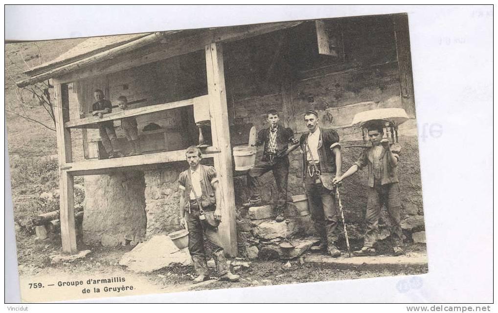 CP Groupe D'armaillis De La Gruyère - Paysans