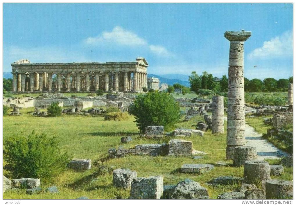 Italy - Paestum - Neptune's Temple - Unused Postcard [P2461] - Salerno