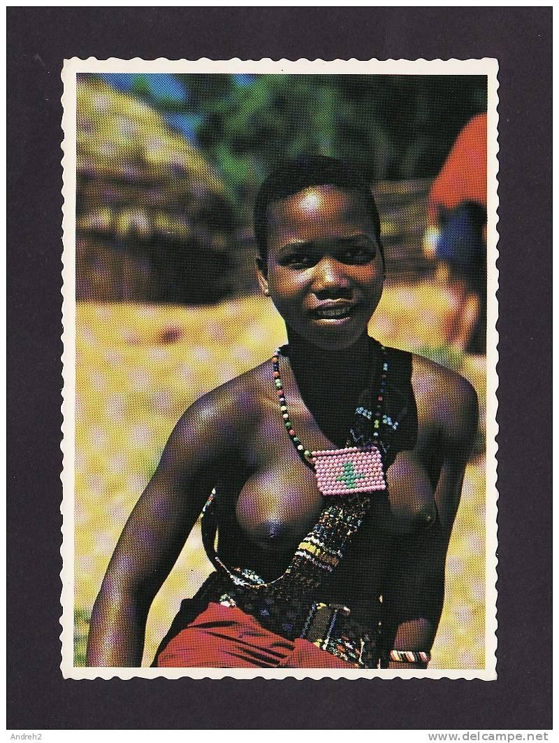 Afrique Du Sud South Africa Young Zulu Girl Nude Nue