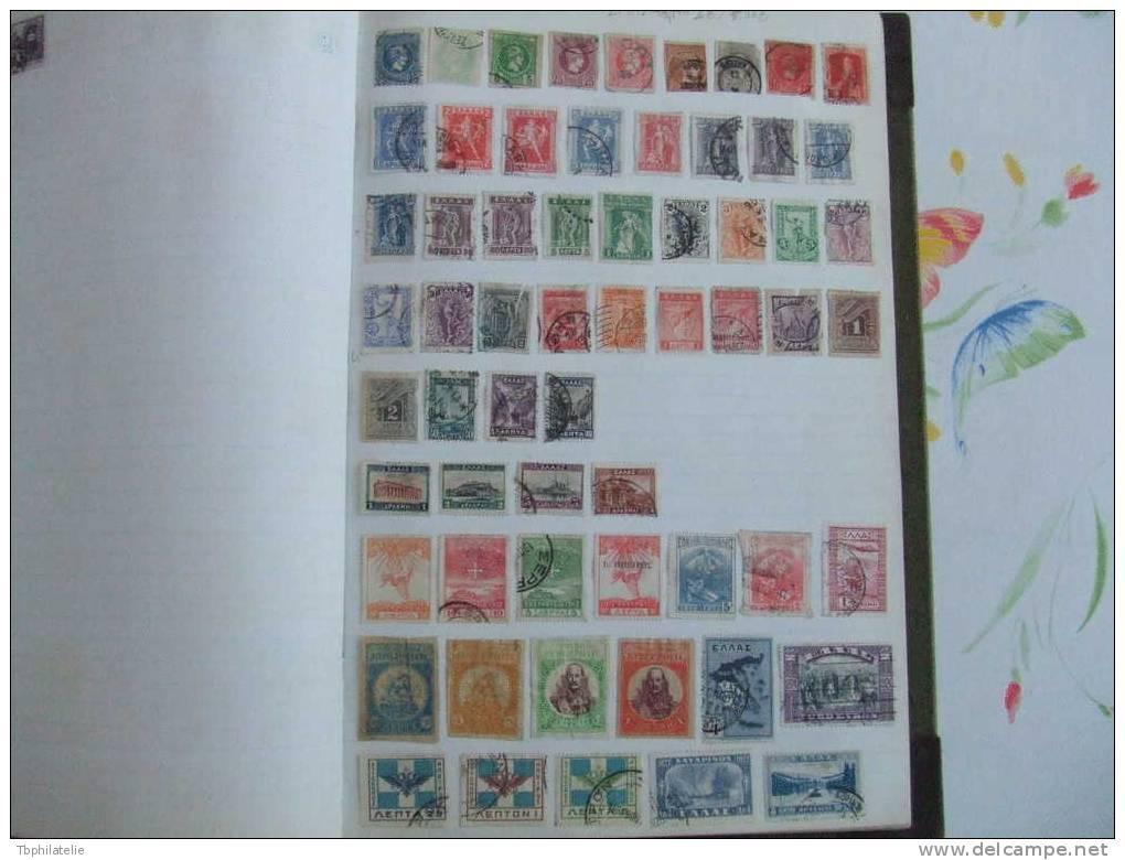 VEND ANCIENNE COLLECTION  DE TIMBRES DE GRECE SUR F.A. - Collections