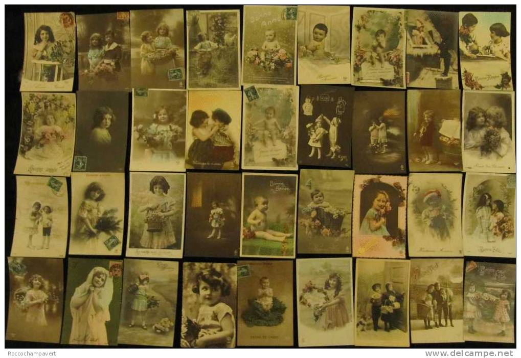 Carte Postale Ancienne - LOT DE 120 Cartes Postales Ancienne - Portrait Et Scènes D´enfant Diverses - Sin Clasificación
