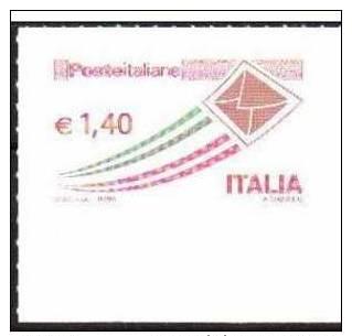 2009 Italia - SERIE ORDINARIA: POSTA ITALIANA €1,40 -  MNH** BORDO DI FOGLIO - SHEET MARGIN Italie Italy Letter Fly - 6. 1946-.. Repubblica