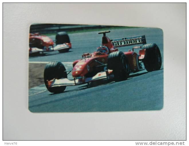 Télécarte Prépayée - Phonecard - Formule 1 - Ferrari - M. Schumacher - Voitures