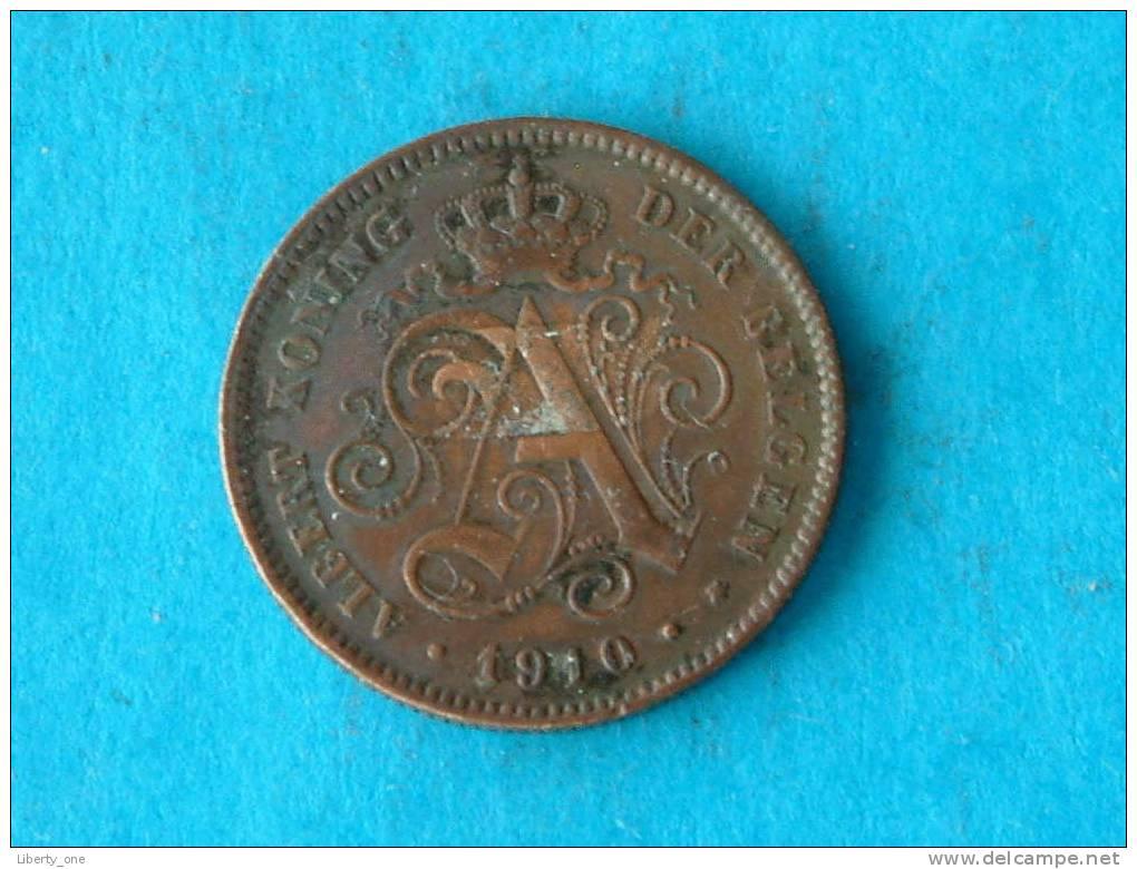 1910 VL - 2 Centiem ( Morin 309 - For Grade, Please See Photo ) ! - 1909-1934: Albert I