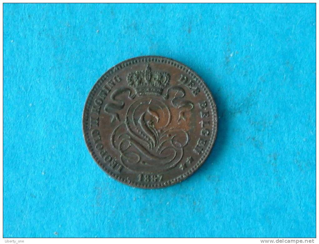 1887 VL - 1 Centiem ( Morin 226 - For Grade, Please See Photo ) ! - 1865-1909: Leopold II